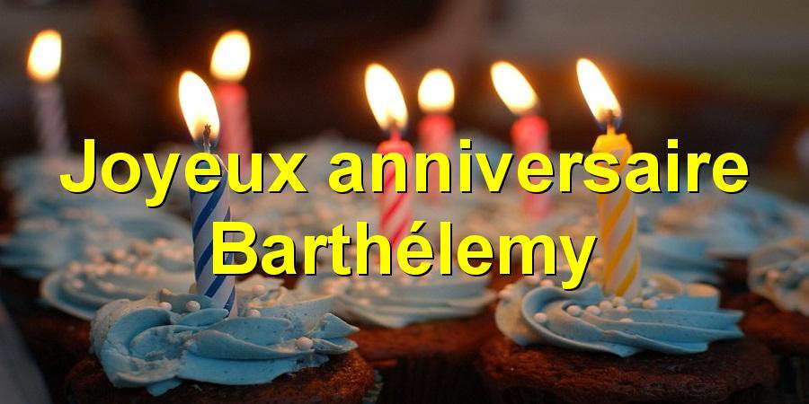Joyeux anniversaire Barthélemy