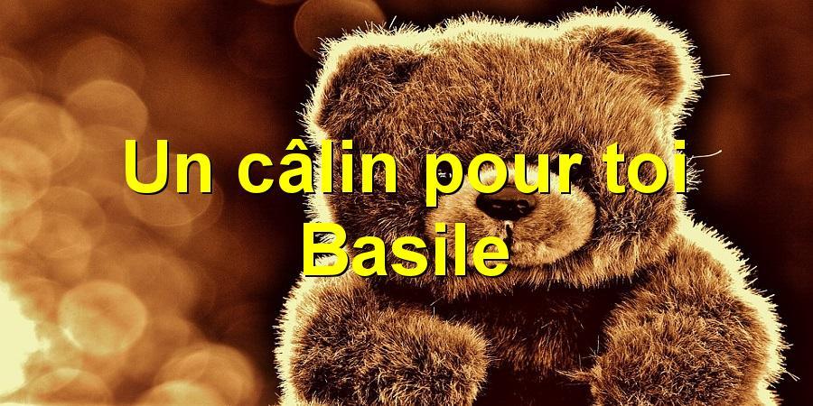 Un câlin pour toi Basile