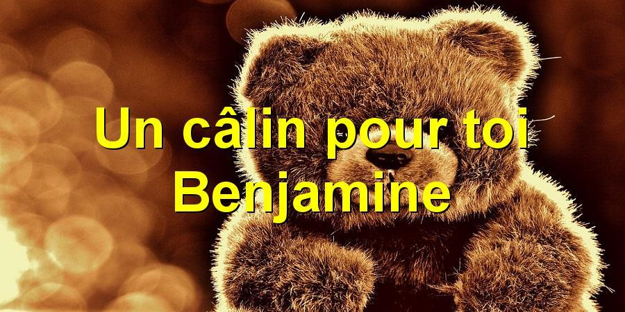 Un câlin pour toi Benjamine