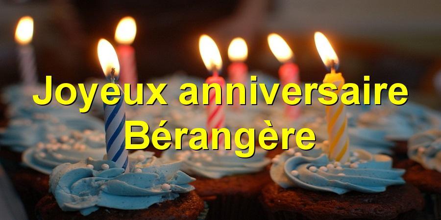 Joyeux anniversaire Bérangère