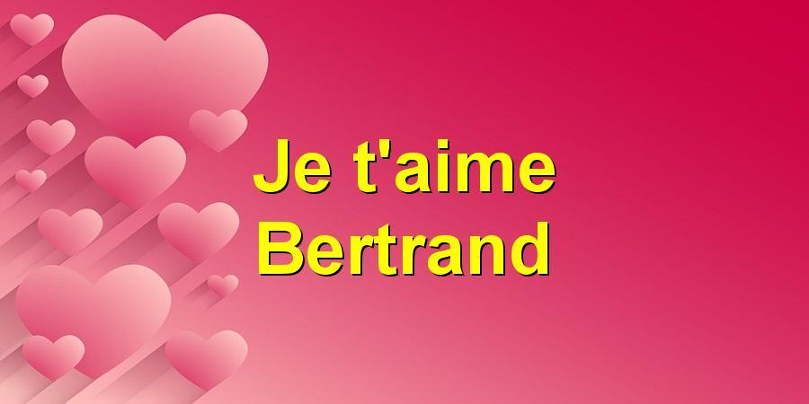 Je t'aime Bertrand