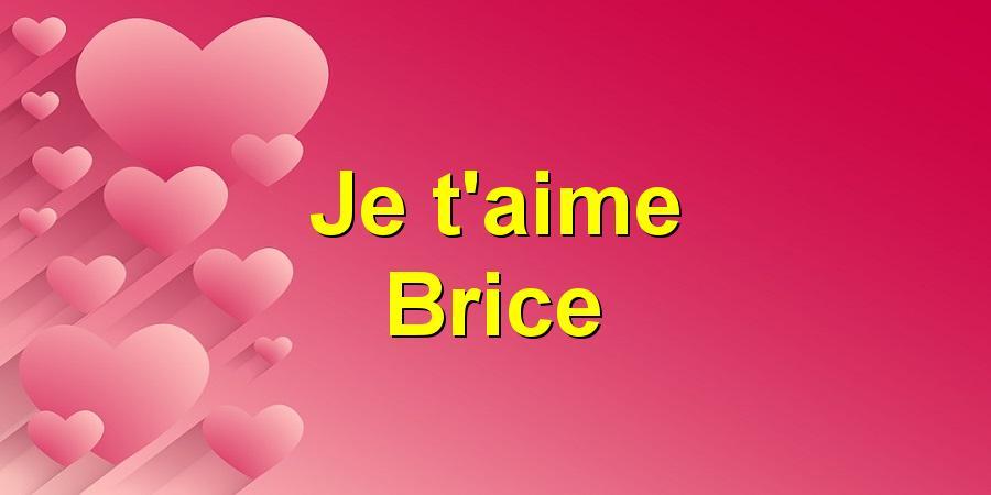 Je t'aime Brice