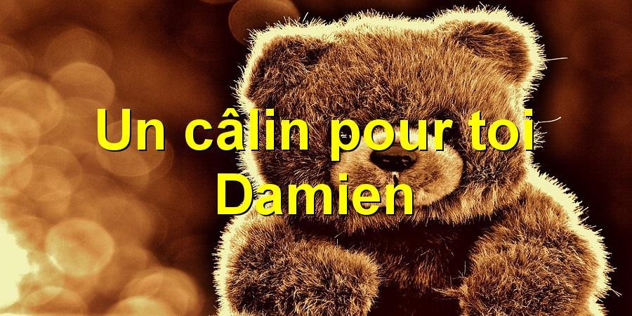 Un câlin pour toi Damien