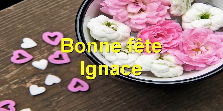 Bonne fête Ignace