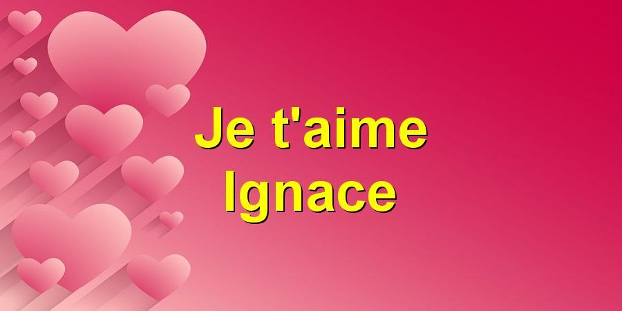 Je t'aime Ignace