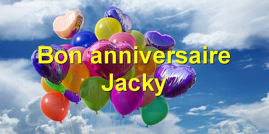 Bon anniversaire Jacky