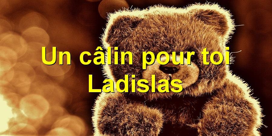 Un câlin pour toi Ladislas