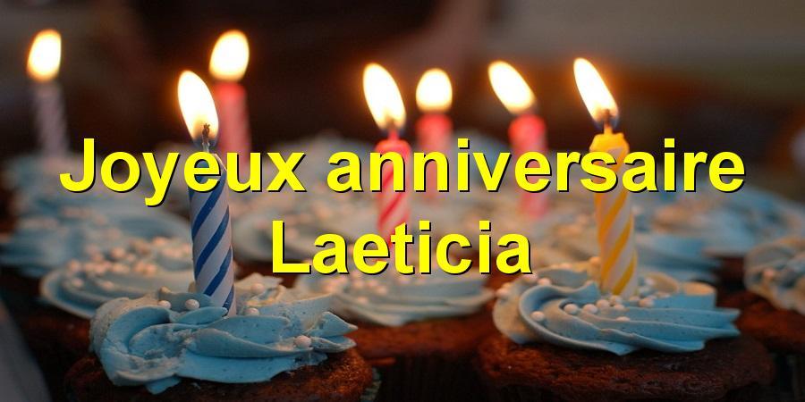 Joyeux anniversaire Laeticia