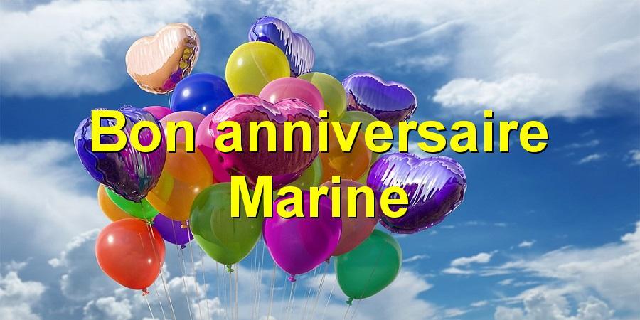 Bon Anniversaire Marine