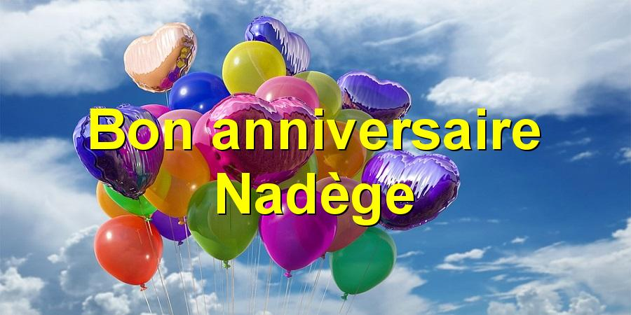 Bon anniversaire Nadège