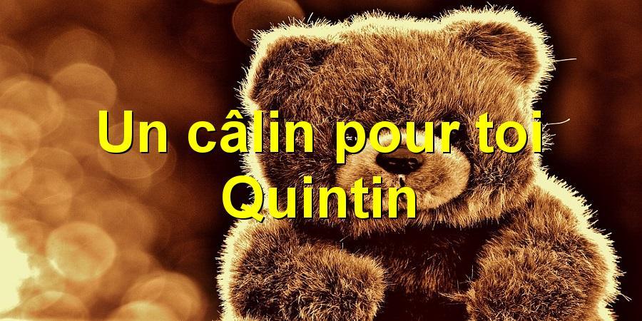 Un câlin pour toi Quintin