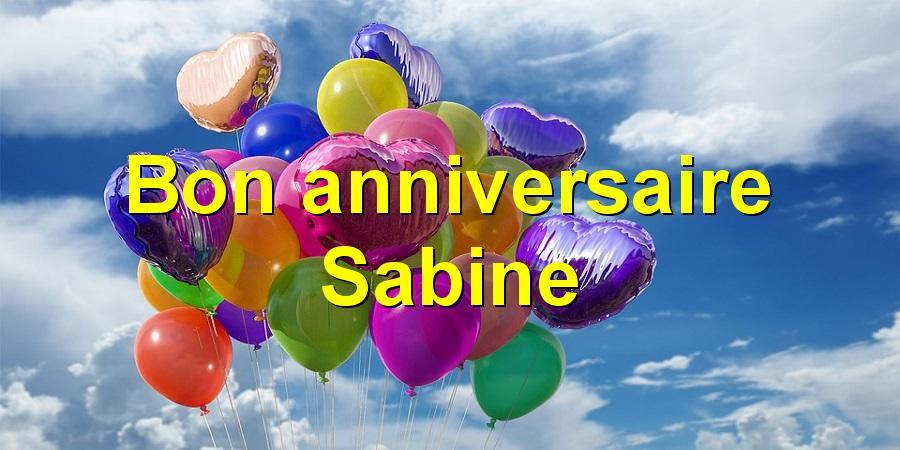 Bon anniversaire Sabine