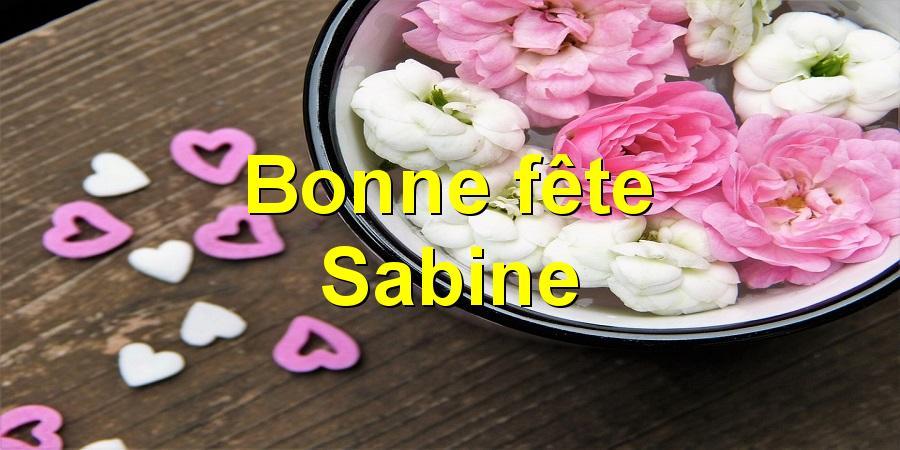 Bonne fête Sabine