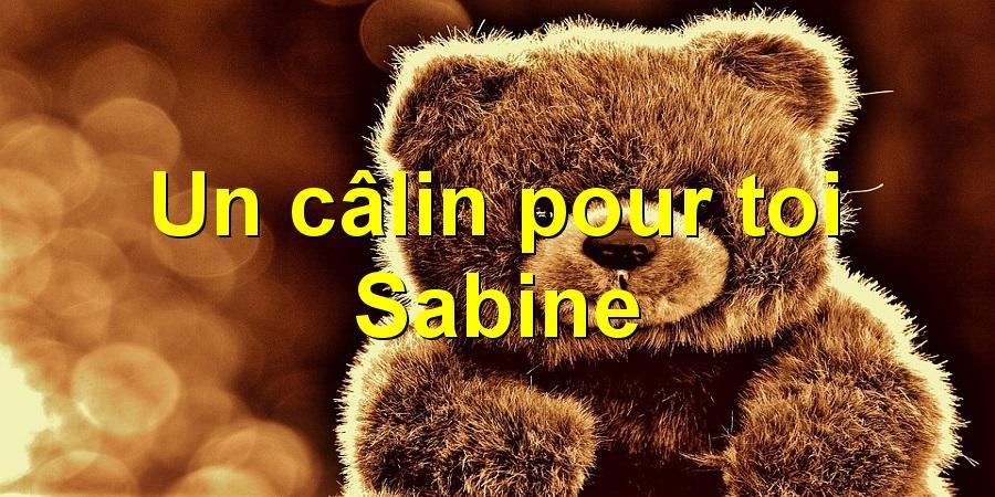 Un câlin pour toi Sabine