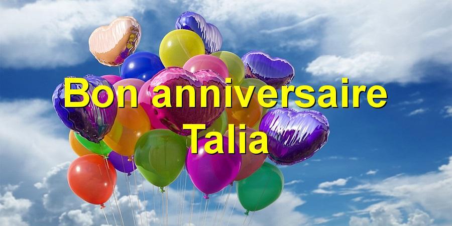 Bon anniversaire Talia