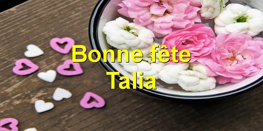 Bonne fête Talia