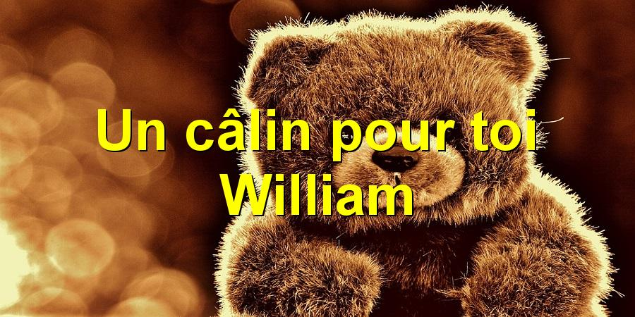 Un câlin pour toi William