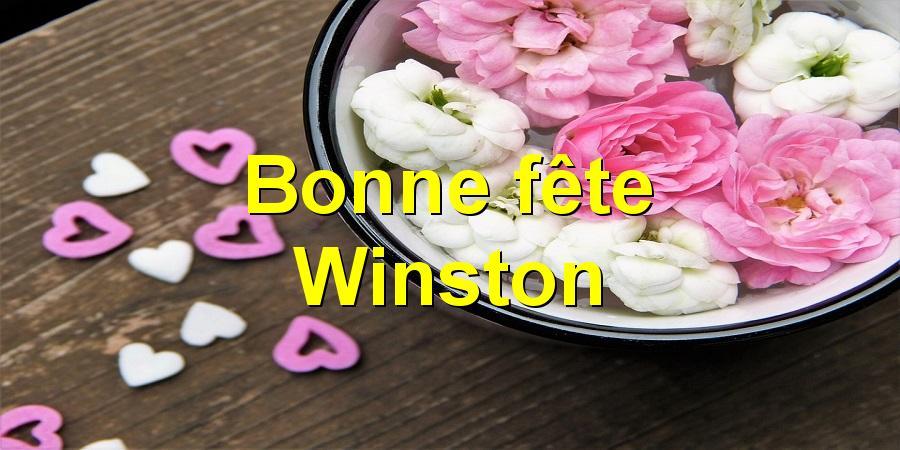 Bonne fête Winston