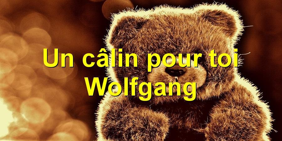 Un câlin pour toi Wolfgang